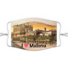 Mund Nasen Maske Motiv Mallorca